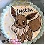 編號:012_寶可夢-伊布手繪卡通造型蛋糕_8吋:1140元/10吋:1440元/12吋:1940元