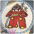 編號:k022_羅伊消防車手繪卡通造型蛋糕_10吋:1440元/12吋:1940元