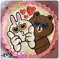 編號:106_兔兔+熊大手繪卡通造型蛋糕_8吋:1290元/10吋:1590元/12吋:2090元
