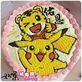 編號130_巧虎vs.皮卡丘手繪卡通造型蛋糕_8吋:1290元/10吋:1590元/12吋:2090元