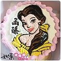 編號004_美女與野獸_貝兒公主手繪卡通造型蛋糕_8吋:1140元/10吋:1440元/12吋:1940元