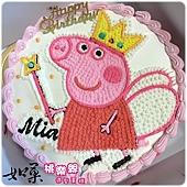 編號:003_粉紅豬小妹:佩佩豬手繪卡通造型蛋糕_8吋:1140元/10吋:1440元/12吋:1940元