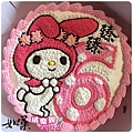 編號:k109_戴帽兔手繪卡通造型蛋糕_10吋:1590元/12吋:2090元