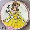 編號K029_貝兒公主手繪卡通造型蛋糕_10吋 1440元/12吋 1940元