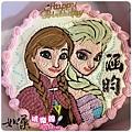 編號K308_冰雪奇緣愛莎+安娜卡通造型蛋糕_10吋:1890元/12吋:2390元