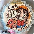 編號103_海賊王:魯夫拿棒球vs.喬巴手繪卡通造型蛋糕_8吋:1290元/10吋:1590元/12吋:2090元