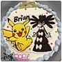 編號:k143_寶可夢-皮卡丘+黑禮服手繪卡通蛋糕_10吋:1590元/12吋:2090元