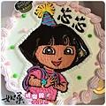 編號019_Dora朵拉手繪卡通造型蛋糕_8吋:1140元/10吋:1440元/12吋:1940元