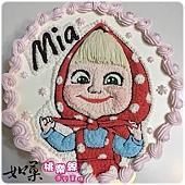 編號:003_瑪莎與熊:瑪莎小女孩手繪卡通蛋糕_8吋 1090元/10吋 1390元/12吋 1890元