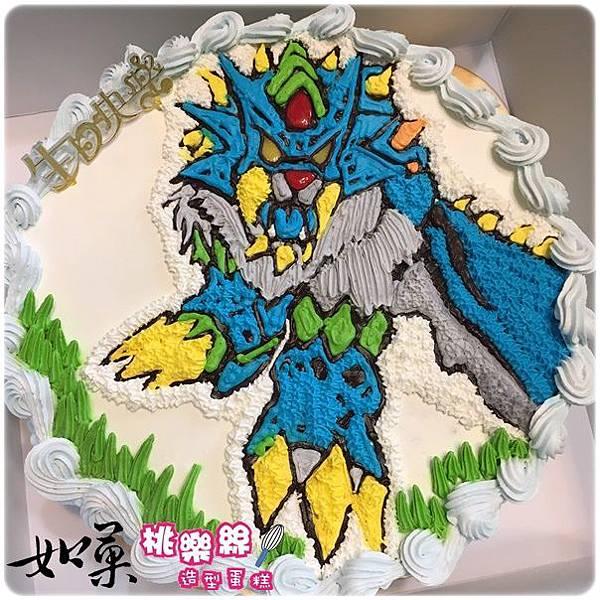 編號:106_寶可夢-神奇寶貝:猛虎王卡通蛋糕_8吋 1290元/10吋 1590元/12吋 2090元