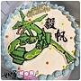編號:k045_寶可夢-裂空座手繪卡通蛋糕_10吋:1440元/12吋:1940元