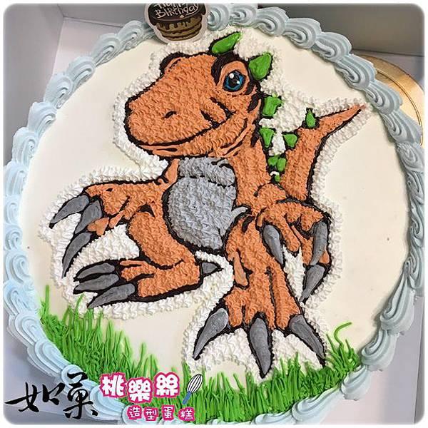 編號:002_恐龍手繪卡通造型蛋糕_8吋:1140元/10吋:1440元/12吋:1940元
