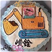 編號:122_粉紅豬小妹:佩佩豬爸爸開怪手手繪卡通造型蛋糕_8吋 1290元/10吋 1590元/12吋 2090元