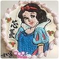 編號001_白雪公主手繪卡通造型蛋糕_8吋:1140元/10吋:1440元/12吋:1940元