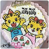 編號111_巧虎vs.小花卡通蛋糕_8吋:1290元/10吋:1590元/12吋:2090元