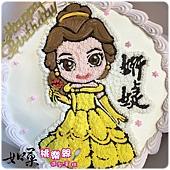 編號051_貝兒公主手繪卡通造型蛋糕_8吋:1140元%2F10吋:1440元%2F12吋:1940元