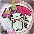 編號007_戴帽兔手繪卡通造型蛋糕_8吋:1140元/10吋:1440元/12吋:1940元