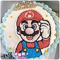 編號:002_瑪莉兄弟:瑪莉歐手繪卡通造型蛋糕_8吋:1140元/10吋:1440元/12吋:1940元