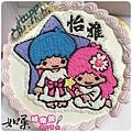 編號107_雙子星手繪卡通造型蛋糕_8吋:1290元/10吋:1590元/12吋:2090元