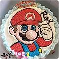 編號:001_瑪莉兄弟:瑪莉歐手繪卡通造型蛋糕_8吋:1140元/10吋:1440元/12吋:1940元