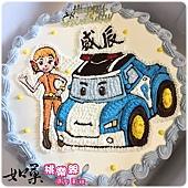 編號:K104_琴vs.波力手繪卡通造型蛋糕_10吋 1590元/12吋 2090元