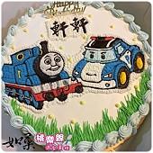 編號:K116_湯瑪士小火車vs.波力手繪卡通造型蛋糕_10吋 1590元/12吋 2090元