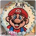 編號:S004_瑪莉兄弟:瑪莉歐手繪卡通造型蛋糕_6吋:930元/8吋:1140元/10吋:1440元/12吋:1940元