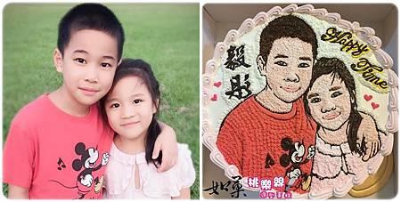 手繪擬真雙人肖像蛋糕_10吋:2500/12吋:3300元