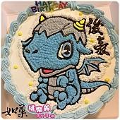 編號:003_恐龍手繪卡通造型蛋糕_8吋:1140元/10吋:1440元/12吋:1940元