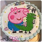 編號:108_喬治豬+恐龍手繪卡通造型蛋糕_8吋 1290元/10吋 1590元/12吋 2090元