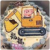 編號:132_粉紅豬小妹:喬治弟+怪手手繪卡通造型蛋糕_8吋 1290元/10吋 1590元/12吋 2090元