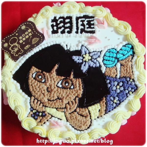 dora朵拉卡通造型蛋糕