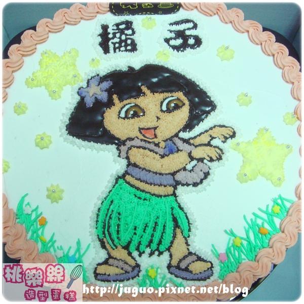 編號007_朵拉Dora卡通蛋糕_8吋:1140元/10吋:1440元/12吋:1940元