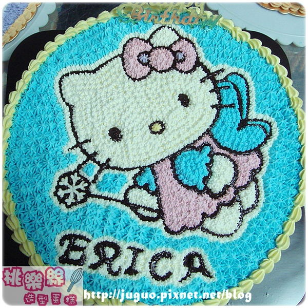Hello Kitty卡通造型蛋糕_10吋