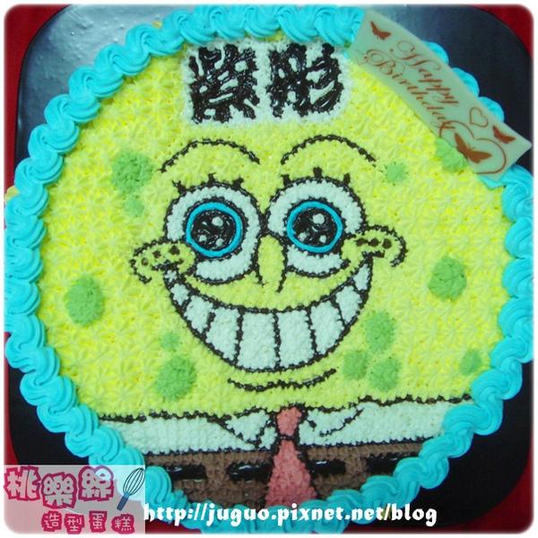 海棉寶寶來嘍~卡通造型生日蛋糕_8吋