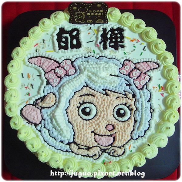 喜羊羊與灰太狼之美羊羊卡通造型蛋糕