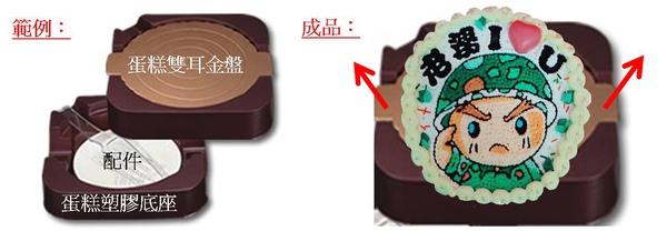 造型蛋糕配件及取出說明