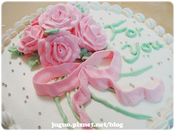奶油造型裝飾蛋糕_玫瑰捧花造型蛋糕_8吋_NO.001_880元
