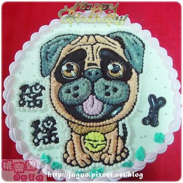 客製-可愛巴哥狗狗卡通造型蛋糕_8吋