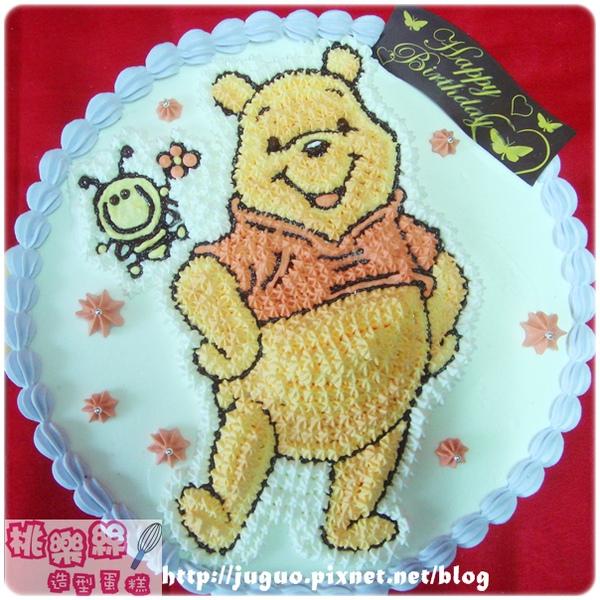 客製_小熊維尼vs.小蜜蜂卡通造型蛋糕_8吋