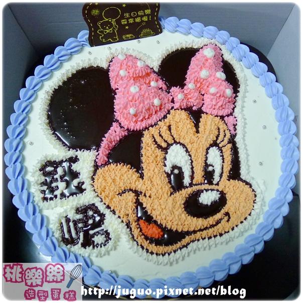 奶油造型裝飾蛋糕_Minnie米妮卡通造型蛋糕_6吋:780元/8吋:880元/10吋:1180元/12吋:1680元_NO.002