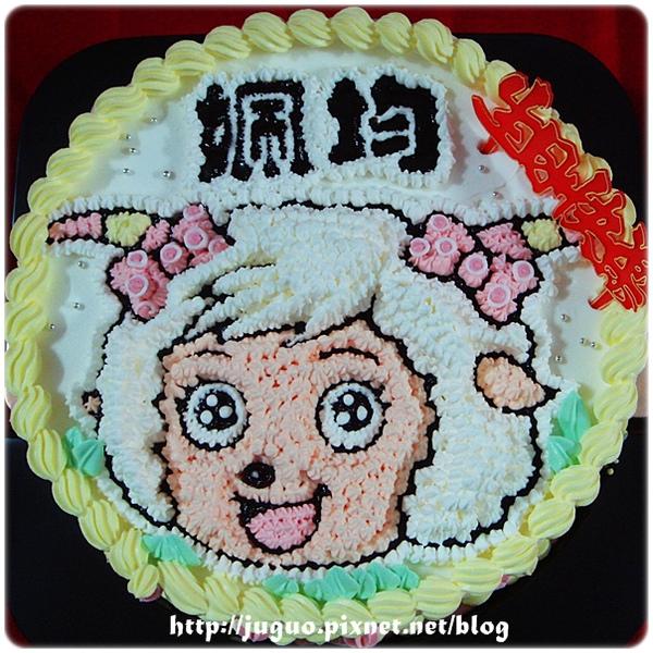 喜羊羊與灰太狼之美羊羊卡通造型蛋糕_8吋