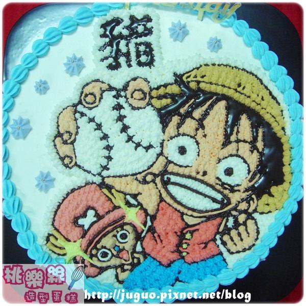 海賊王-魯夫vs.喬巴卡通造型生日蛋糕_8吋