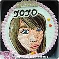 奶油造型裝飾蛋糕_客製_擬真肖像蛋糕_YOYO小姐_8吋_1500元