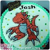 奶油造型裝飾蛋糕_與恐龍共舞發現侏羅紀之恐龍卡通造型蛋糕_8吋_NO.002_880元