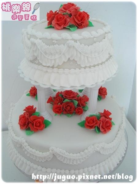 客製-玫瑰花園結婚蛋糕_10吋vs.6吋
