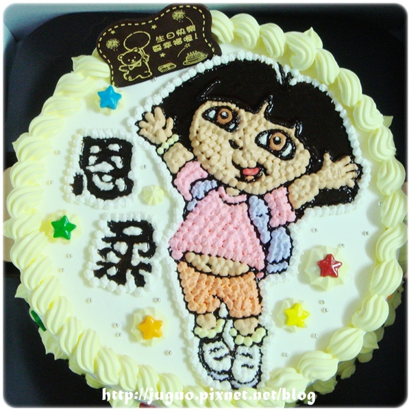 朵拉dora上學去-卡通造型蛋糕