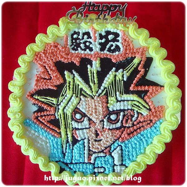 遊戲王-武藤遊戲卡通造型蛋糕_8吋
