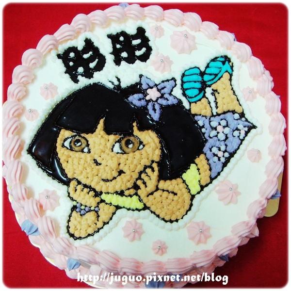 編號001_朵拉Dora卡通蛋糕_8吋:1140元/10吋:1440元/12吋:1940元