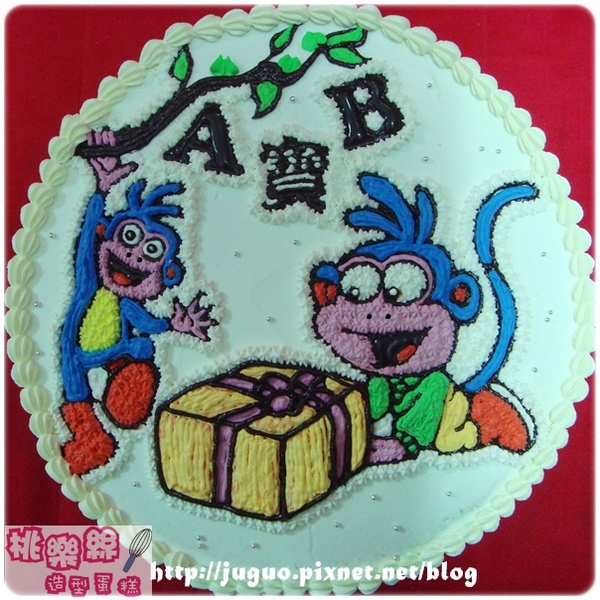 Dora的好朋友-boots小猴子卡通造型蛋糕_10吋